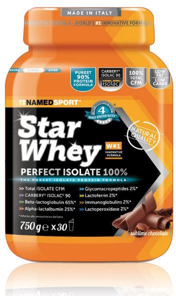 Named Sport Star Whey Perfect Isolate 100% Proteine Gusto Cioccolato 750g