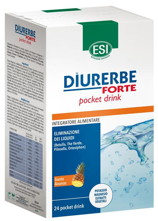 Diurerbe Forte Integratore Alimentare Pocket Drink Ananas Esi 24 stick