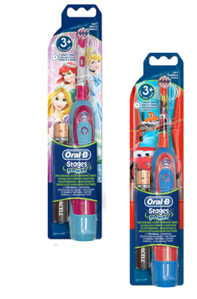 Oral B Power Advance 400 Kids Spazzolino Elettrico Disney Cars o Principesse