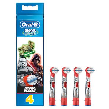 Oral B Power Stage Star Wars Testine di Ricambio Spazzolino Elettrico 4 Pezzi
