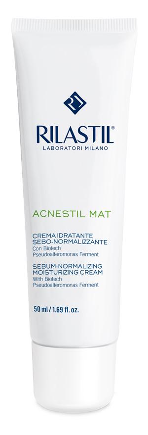 Rilastil Acnestil Crema Idratante Sebo Normalizzante Anti Lucidità 50ml